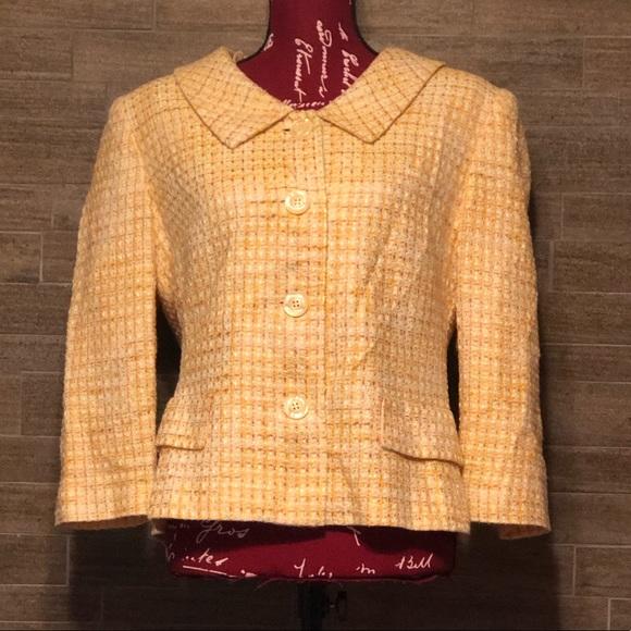 Talbots Jackets & Blazers - Talbots yellow blazer